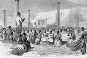 Sketch of African American Classroom 1866