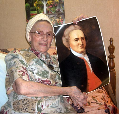 Mary Richardson Briggs with Portrait of General Richardson