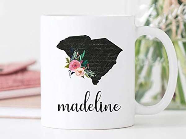 Personalized South Carolina Mug