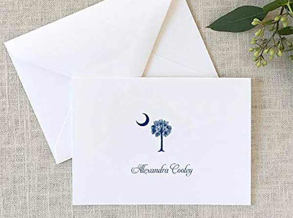 Personalized South Carolina Note Cards