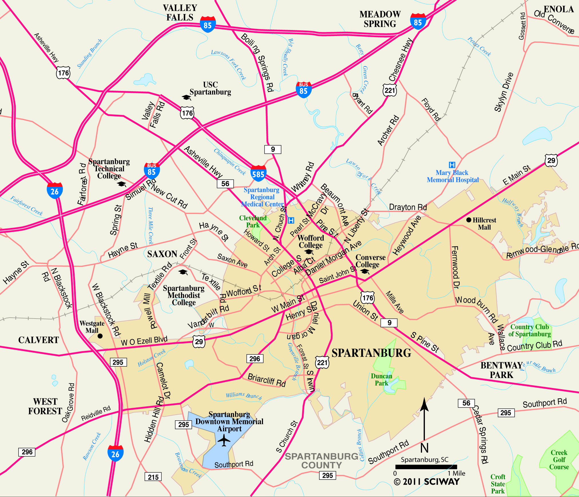 nc road map with Spartanburg South Carolina Map on Blue ridge parkway map nc besides Map Place Names further Lift Only Mtr Station Entrances also Charlotte Zip Code Map also Manchester Museum Late.